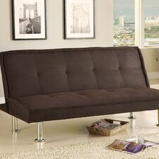 Convertible Sofa with Chrome Legs