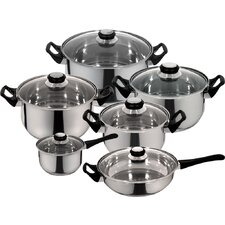 Priminute Monterrey Stainless Steel 12 Piece Cookware Set