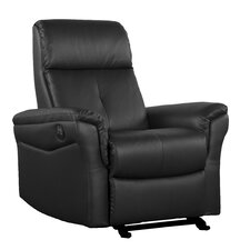 Bonded Leather Power Motion Reclining Glider Chair