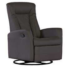 Bonded Leather Occasional Glider Recliner