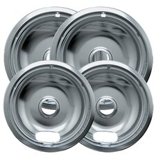 4 Piece Cooktop Style A Plug-in Electric Range Drip Bowl Set