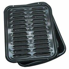 Porcelain Broiler Pan (Set of 2)