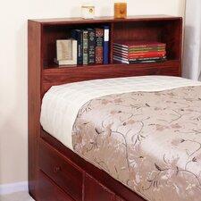 Twin Wood Bookcase Headboard