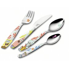 Children's Cutlery 4 Piece Flatware Set in Spongebob