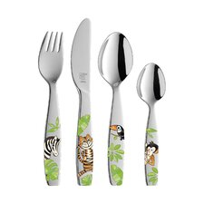 Children's Cutlery 4 Piece Flatware Set in Jungle