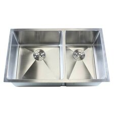 "Ariel 32"" x 19"" Double Bowl Undermount Kitchen Sink"