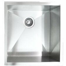"19"" x 20"" Single Bowl Undermount Kitchen Sink"