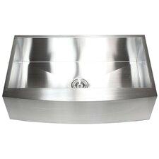 "Ariel 36"" x 21"" Stainless Steel Single Bowl Farmhouse Kitchen Sink"