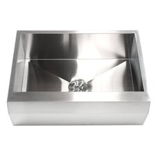 "Ariel 30"" x 22"" Stainless Steel 16 Gauge Single Bowl Farmhouse Kitchen Sink"