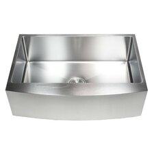 "Ariel 33"" x 21"" Stainless Steel Single Bowl Farmhouse Kitchen Sink"