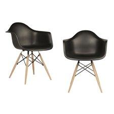 Mid Century Modern Scandinavian Arm Chair (Set of 2)