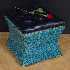 Heraldic Leather Storage Ottoman