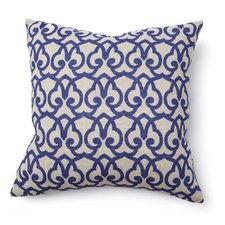 Full Bloom Brit Print Linen Throw Pillow