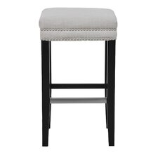 "Debra Backless 30"" Bar Stool with Cushion"