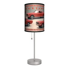 """Ford Mustang Fastback 20"""" H Table Lamp with Drum Shade"""