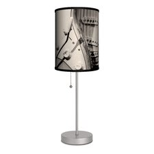 """Music Electric Guitar 20"""" H Table Lamp with Drum Shade"""
