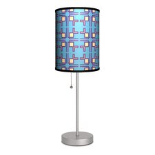 """Decor Art Square Linen 20"""" H Table Lamp with Drum Shade"""