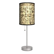 """Decor Art Shells Antique 20"""" H Table Lamp with Drum Shade"""