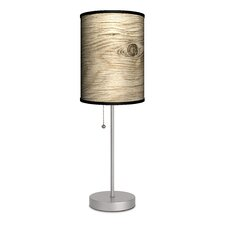 """Decor Art Tree Texture 20"""" H Table Lamp with Drum Shade"""