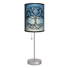 "Decor Art Tree of Life 20"" H Table Lamp with Drum Shade"