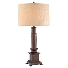 """Whitaker 33.50"""" H Table Lamp with Drum Shade"""