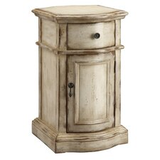 Casually Chic Hand Painted 1 Drawer Chairside Chest