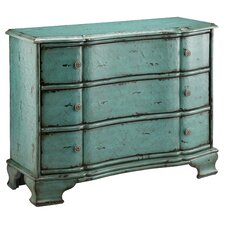 Painted Treasures 3 Drawer Crackle Accent Chest
