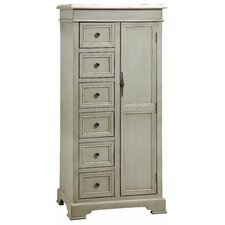 Painted Treasures 1 Door 6 Drawer Cadet Cabinet