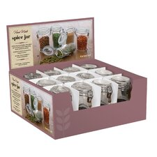 Clip Top Mini Jar Set (Set of 12)