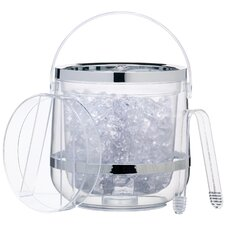 Bar Craft Double Walled Insulated Ice Bucket with Lid & Tongs