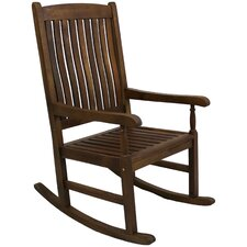 Highland Acacia Traditional Wood Rocking Chair