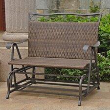 Valencia Iron Wicker Resin Patio Glider Chair