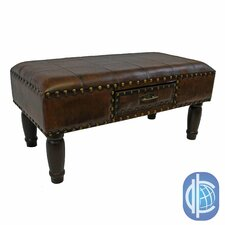 Windsor Faux Leather Entryway Bench