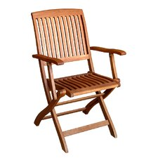 Royal Tahiti Balau Folding Patio Chair (Set of 2)