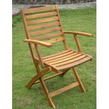 Acacia Chelsea Folding Dining Arm Chair (Set of 2)