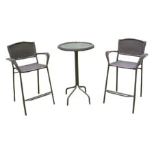 Chelsea 3 Piece Bar Height Patio Bistro Set