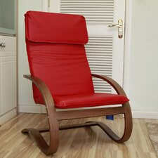 Stockholm Contemporary Faux Leather Lounge Chair
