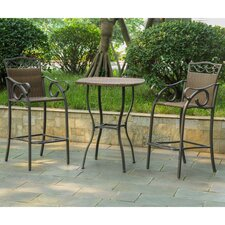 Valencia 3 Piece Bar Height Dining Set