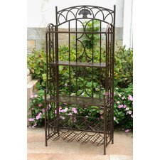 Charleston 5-Tier Iron Indoo/rOutdoor Bakers Rack