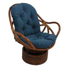 Rattan Swivel Rocker Chair