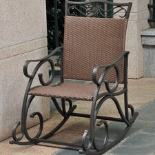 Valencia Wicker Resin & Steel Patio Rocking Chair
