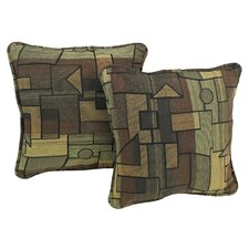 Contemporary Tapestry Throw Pillow (Set of 2)