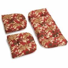 Montfleuri Outdoor Loveseat Cushion (Set of 2)