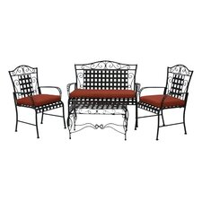 3 Piece Outdoor Dining Chair and Loveseat Cushion Set