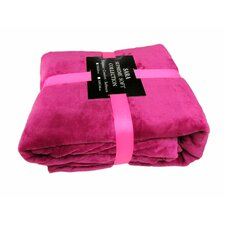 Solid Super Soft Plush Polyester Blanket