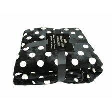 Polka Dot Printed Ultra Plush Fleece Blanket