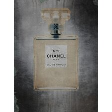 Feminine/Romance Chanel No. 5 Graphic Art on Wrapped Canvas