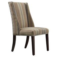 Eris Striped Wingback Parsons Chair (Set of 2)