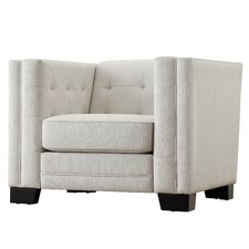 Corvin Square Tufted Upholstered Arm Chair