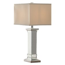 "Gaillardo Mirrored 28.5"" H Table Lamp with Square Shade"